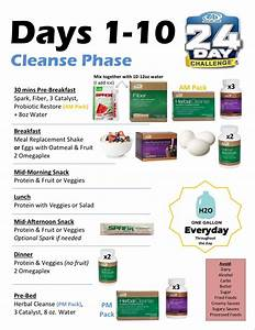 Advocare 24 Day Challenge Cleanse Phase Cheat Sheet