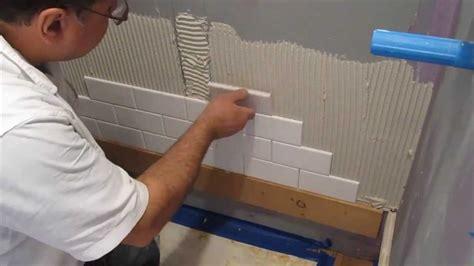 subway tile bathroom floor ideas subway tile shower install lapse