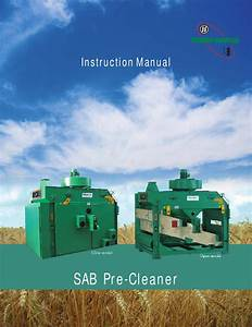 Sab Pre Cleaner Manual By Ace Art Section