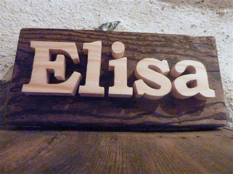 Custom Name Sign Personalized Door Sign Wooden Bedroom
