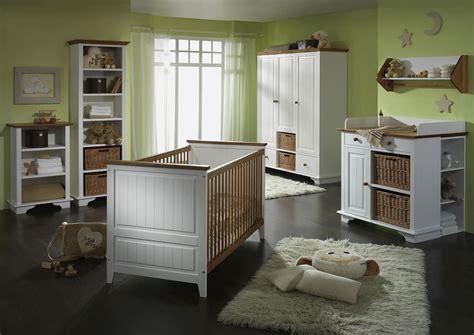 Massivholz Babyzimmerset Kinderzimmer Möbel Weiß Honig