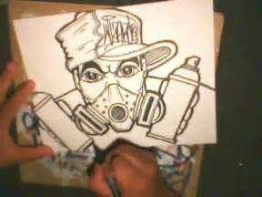 Graffiti Characters by Wizard Gas Mask Drawing