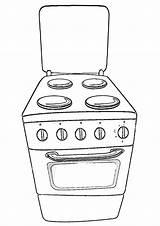 Appliances Coloring Coloringway sketch template