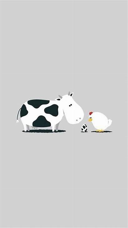 Iphone Cartoon Funny Cow Wallpapers Animal Resolution