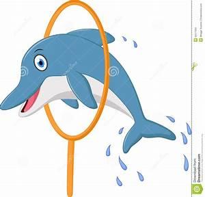 Cute Dolphin Cartoon Jumping Stock Illustration - Image ...
