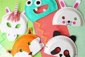 Faschingsmasken Selber Machen : faschingsmasken basteln anleitung kindermasken aus pappteller ~ Eleganceandgraceweddings.com Haus und Dekorationen