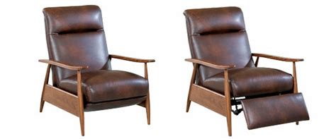 modern leather recliner leather retro mid century modern recliner chair club