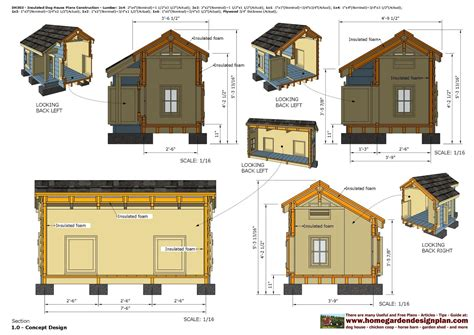 home garden plans dh insulated dog house plans dog house design   build
