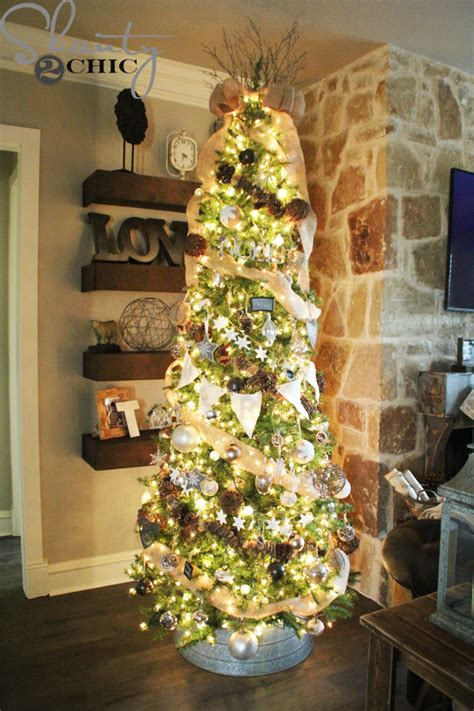 how to decorate a rustic christmas tree shanty 2 chic