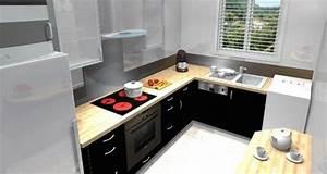 petite cuisine equipee avec l39evier sous la fenetre With idee deco cuisine avec photo cuisine Équipée