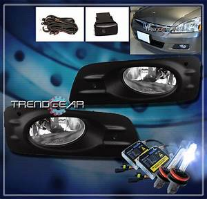 For 06 07 Honda Accord 4dr Clear Fog Light  Oem Switch