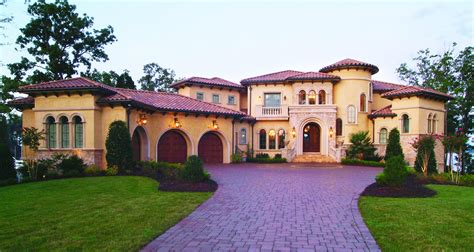 Florida Contemporary Mediterranean House Plans Two Story