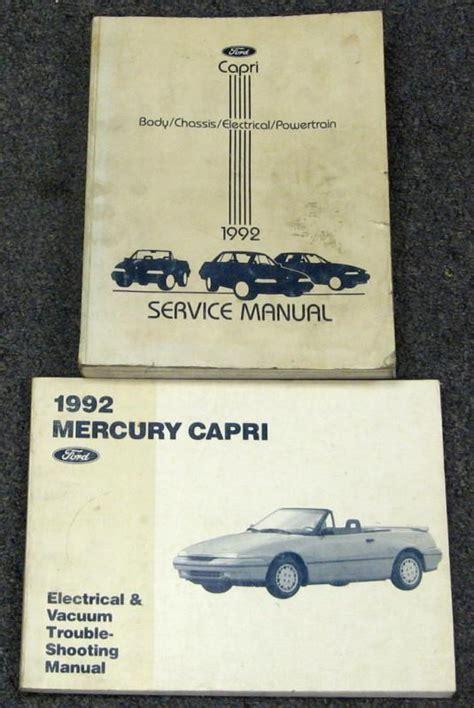 car repair manuals online free 1994 mercury capri parental controls purchase 1992 mercury capri xr2 service repair manual set motorcycle in dayton ohio us for