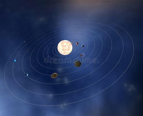 Diagram Our Solar System With Planets Stock