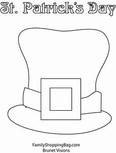 leprechaun hat coloring page free coloring pages With leprechaun hat template printable
