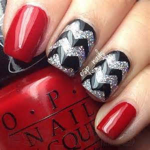 Stylish red and black nail designs