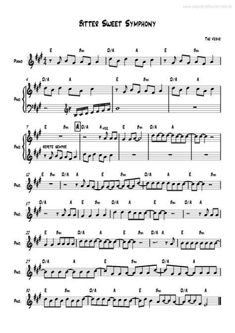 Bitter Sweet Symphony Testo by Partituras Bitter Sweet Symphony V 2 The Verve
