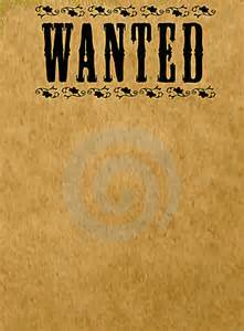 Google Wanted Poster Template