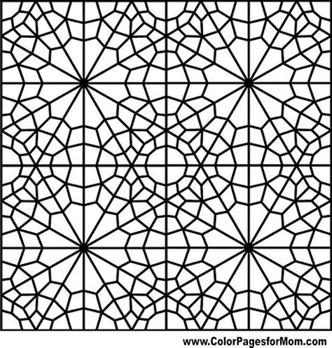 geometric coloring  printable pages  adults