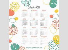 2019抽象カレンダー ベクター画像 無料ダウンロード