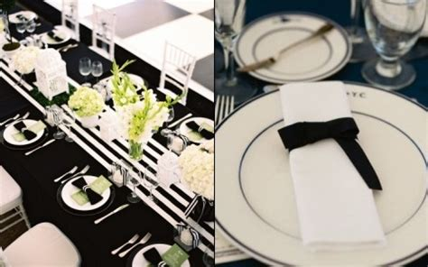 black and white dinner table setting elegant black and white table settings 23 happywedd com