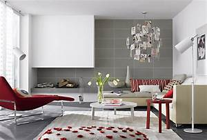 10 reasons to decorate your home with bold colors 24 pics With gray and red living room interior design