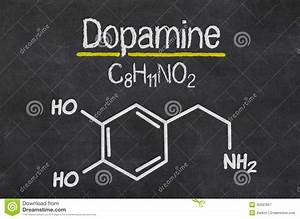 Chemical Formula Of Dopamine Stock Illustration - Image ...