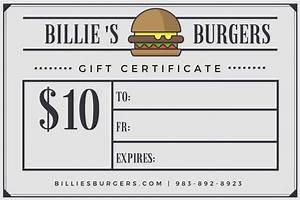 burger newspaper style restaurant gift certificate With free restaurant gift certificate template