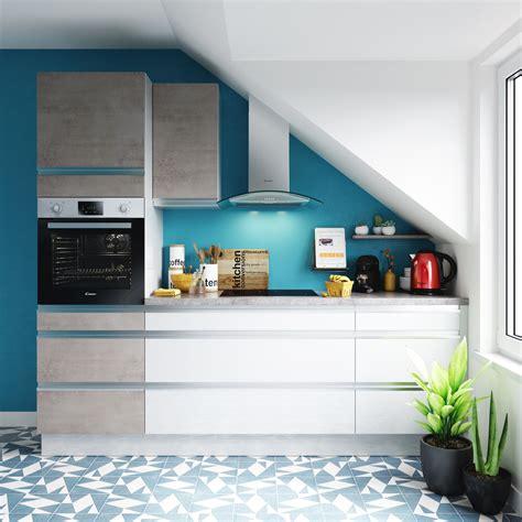 cuisine bleue et blanche quelles couleurs associer dans une cuisine blanche