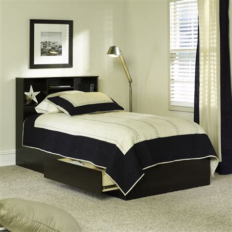 Bookcase Headboard Bed by Mainstays Storage Bed With Bookcase Headboard