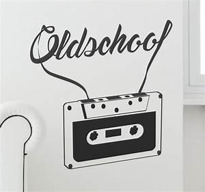 Old School Cassette Wall Sticker - TenStickers