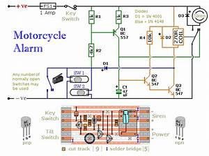 Electronic Circuits Diagram  Motorcyle Alarm