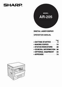 Sharp Ar  Operation Manual