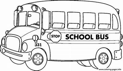 Coloring Transportation Bus Pages Printable