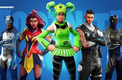 fortnite skins optic gaming faze clan esport teams