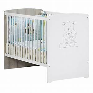 Lit Commode Bébé : chambre b b duo teddy lit 60x120cm commode de baby ~ Teatrodelosmanantiales.com Idées de Décoration