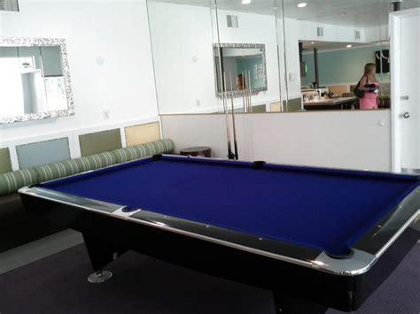 blue felt pool table blue felt pool table in the hotel bar yelp