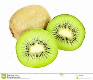 Green Kiwi Cut In Half Royalty Free Stock Image - Image ...
