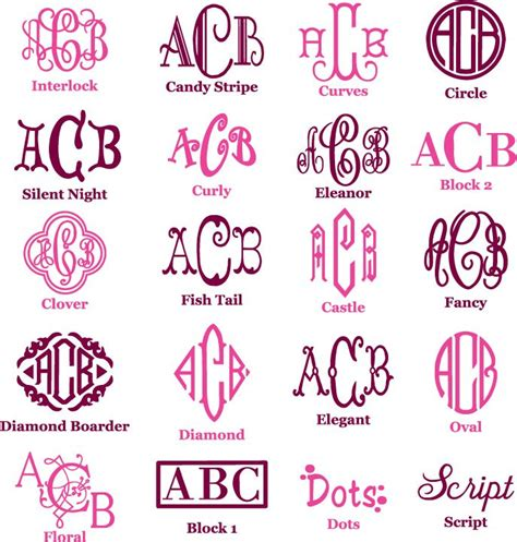 Different Types Of Monogrammed Fonts-useful Tool To Use