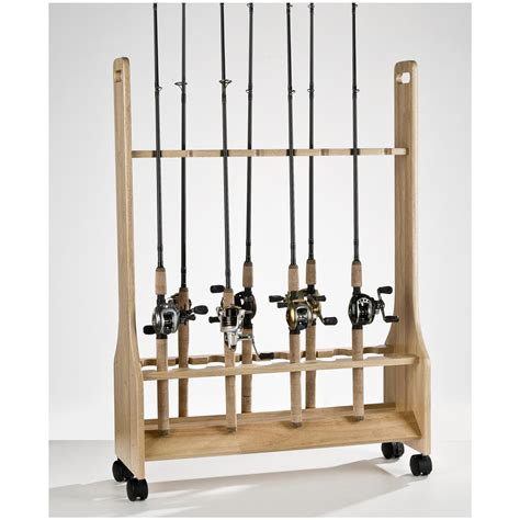 fishing rod rack organized fishing 16 rod salt water rolling rod rack