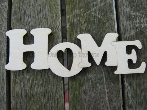 Home Design Words : Lovely Quirky Home Laser Cut Word