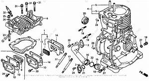 Honda Small Engine Parts G400 Oem Parts Diagram For Cylinder Head   Cylinder Barrel