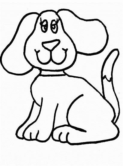 Coloring Dog Pages Printable Colouring Sheets Easy
