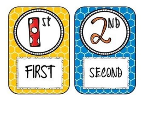ordinal numbers number posters and numbers on