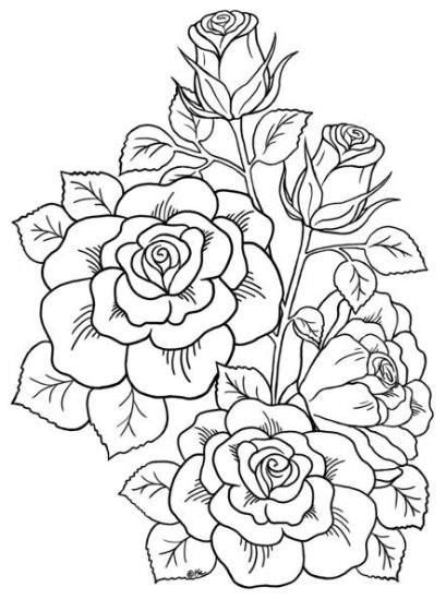 24+ New Ideas For Flowers Drawing Tattoo Coloring Books en