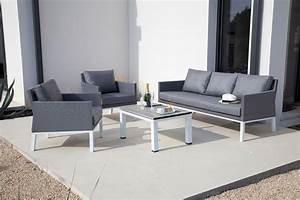 salon dani 1 canape 3 places 2 fauteuils 1 table With canape 3 places et fauteuil