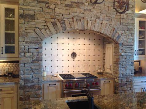 cooktop stone surround modern kitchen design brick
