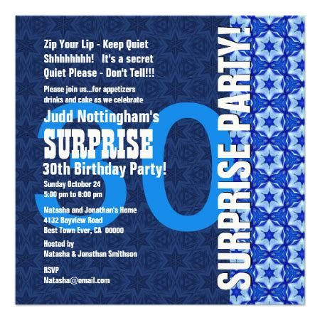 surprise birthday blue stars  personalized