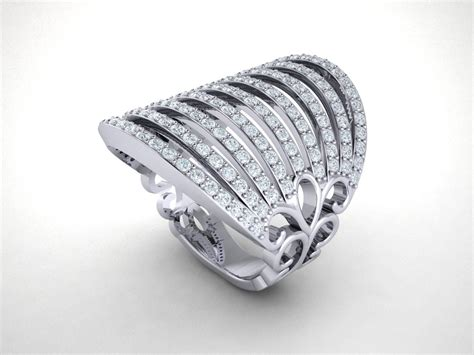 genuine 1 5ctw cut diamond fancy wide multi row wedding band ring 14k gold ebay