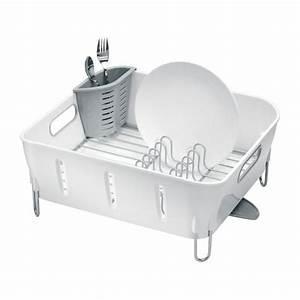 Egouttoir Vaisselle Alinea : simplehuman rangements pour la cuisine blanc plastique habitat ~ Teatrodelosmanantiales.com Idées de Décoration